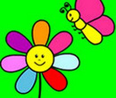 Flower and Butterfly Coloring
