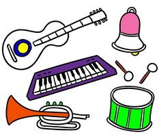 Play Musical Instruments Coloring Pages