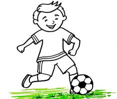 Play Soccer Coloring Pages