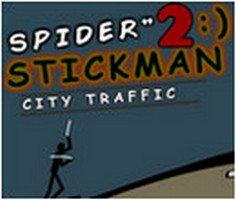 Spider Stickman 2: City Traffic