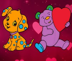 Play Valentine Pets Coloring Pages